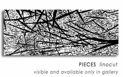PIECES  linocut