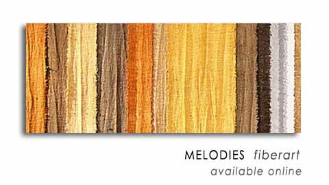 MELODIES  fiberart